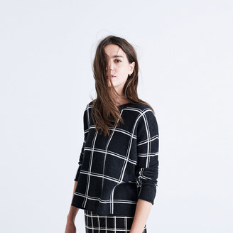 Double Windowpane Pullover Sweater $89.50 thestylecure.com