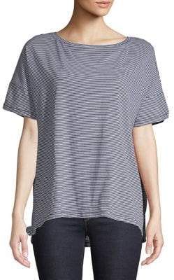 Eileen Fisher Striped Cotton Top