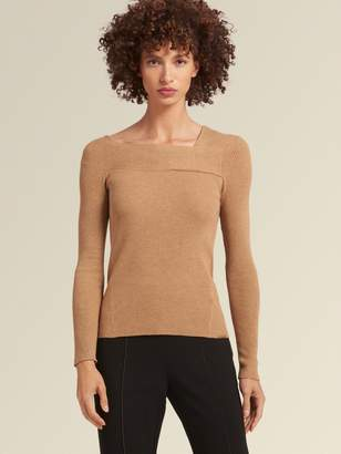 DKNY Ribbed Boat-Neck Pullover Sweater