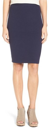 Eileen Fisher Silk Blend Rib Knit Pencil Skirt $198 thestylecure.com