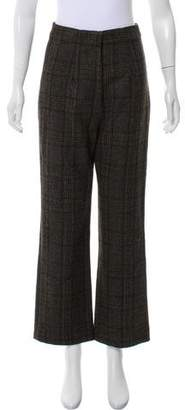 Creatures of Comfort High-Rise Plaid Wool Pants