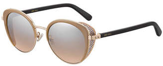 Jimmy Choo Gabby Mirrored Metal & Acetate Cat-Eye Sunglasses