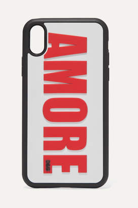 Dolce & Gabbana Amore Embossed Pvc Iphone Xr Case - Red
