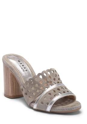Manas Design Virgin Cut Out Leather Mule Sandal