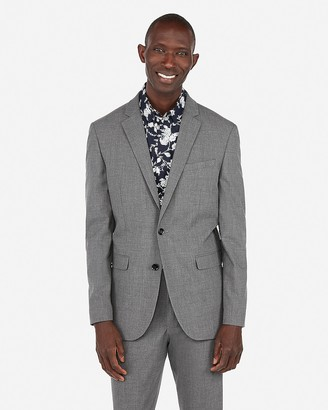 Express Slim Gray Stretch Suit Jacket