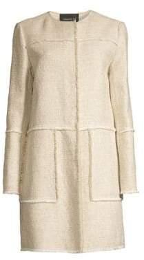 Lafayette 148 New York Francine Tweed Topper Coat