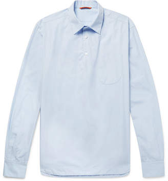 Barena Cotton-Poplin Half-Placket Shirt