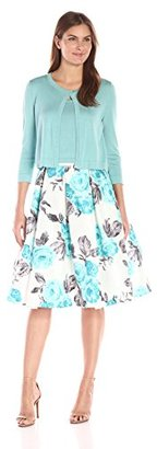 Jessica Howard Women's 3pc Sweater Set with Shantung Skirt $118.99 thestylecure.com
