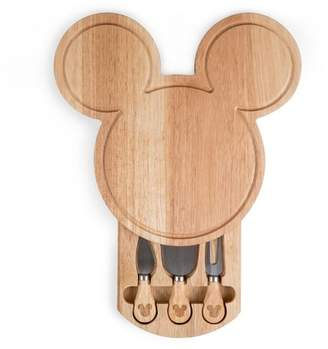 Picnic Time Disney Mickey Mouse Wood Cheese Board with Tool Set