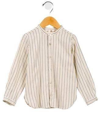 Babe & Tess Boys' Striped Button-Up Shirt w/ Tags