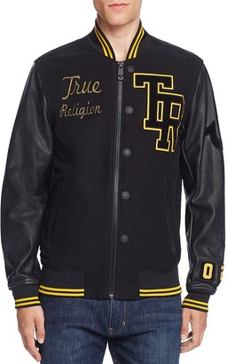 True Religion Collegiate Moleskin Letter Jacket $599 thestylecure.com