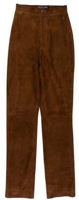Ralph Lauren Black Label Suede High-Rise Pants