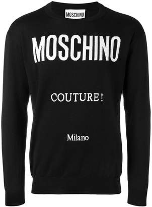 Moschino logo knitted jumper