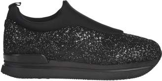 Hogan slip on H222 made of glitter and scuba effect fabric