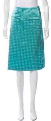 Tara Zadeh Polka Dot Knee-Length Skirt blue Polka Dot Knee-Length Skirt