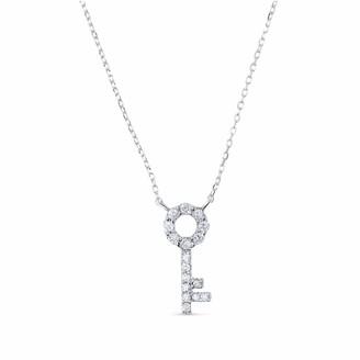 Cosanuova Key Necklace 14k White Gold
