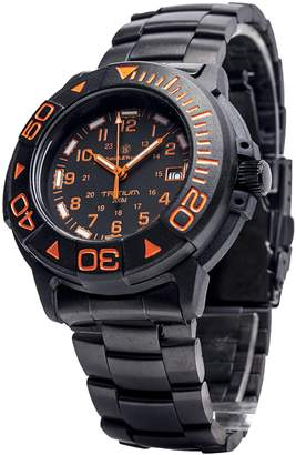 Smith & Wesson CampCo Men's SWW-900-OR Diver Swiss Tritium Black Dial Metal and Rubber Band Watch