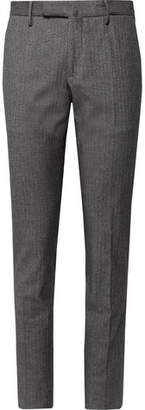 Incotex Slim-Fit Herringbone Stretch-Cotton Trousers - Men - Gray