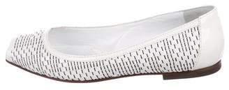 Fendi Patent Leather Peep-Toe Flats