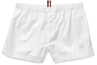 Thom Browne Cotton-Poplin Boxer Shorts $210 thestylecure.com