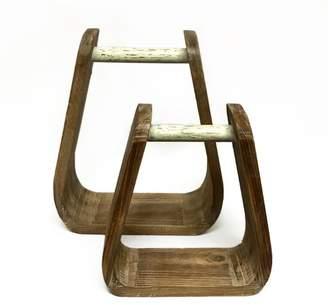 Union Rustic Ensley Stirrup Accent 2 Piece Wall Shelf Set