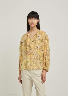 Isabel Marant Mia Silk Floral Print Blouse