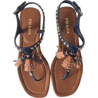 Prada Leather flip flops