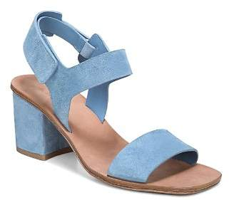 Via Spiga Women's Kamille Suede Block Heel Ankle Strap Sandals