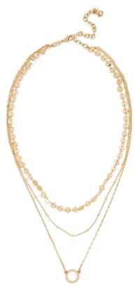 BaubleBar Adrielle Triple Strand Necklace