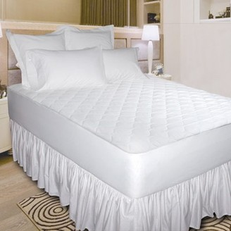 Newpoint International Inc Newpoint Quiet Waterproof Cotton Mattress Pad, White