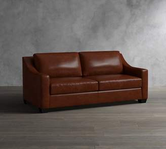 Pottery Barn York Slope Arm Leather Sofa Collection