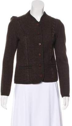 Henry Beguelin Cable Knit Collarless Jacket