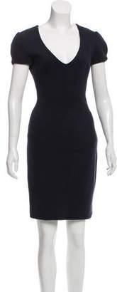 L'Agence V-Neck Mini Dress