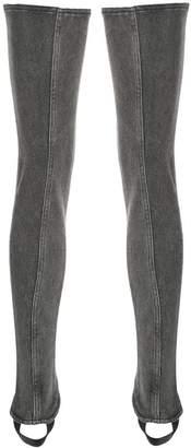 Saint Laurent ankle cuff thigh highs