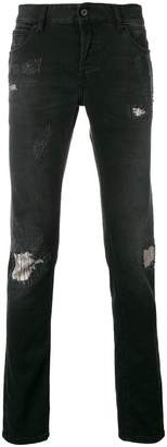 Just Cavalli distressed slim fit jeans
