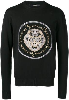 Billionaire embroidered lion sweater