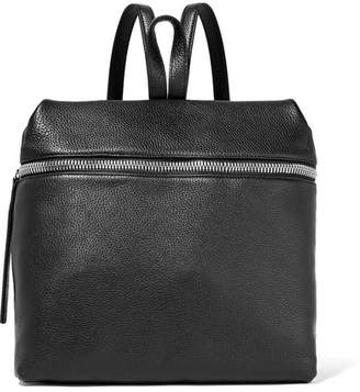 Kara Large Textured-leather Backpack - Black