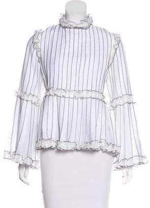 Chanel 2017 Pleated Blouse