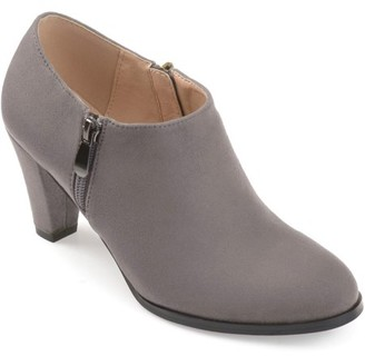 Brinley Co. Women's Faux Suede Low-cut Comfort-sole Ankle Booties