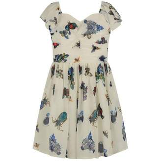 Relish RelishGirls White Gem Print Dress
