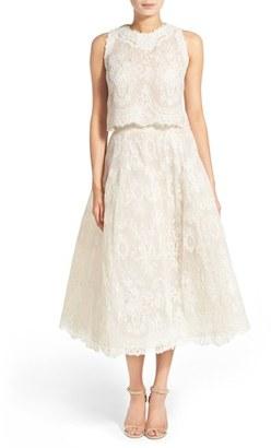 Women's Bliss Monique Lhuillier 2-Pc. Embroidered Lace Dress $3,680 thestylecure.com