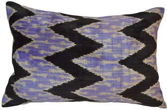 Orientalist Home Meral 16x24 Ikat Pillow - Purple