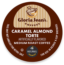 Keurig K-Cup® Gloria Jean's® Caramel Almond Torte for Brewers - 18 Count