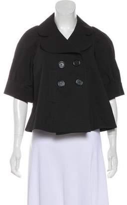 Sonia Rykiel Sonia by Short Sleeve Double-Breasted Jacket