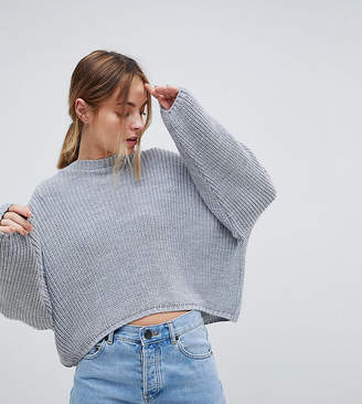 Asos (エイソス) - ASOS Petite ASOS DESIGN Petite chunky sweater in crop with volume sleeve