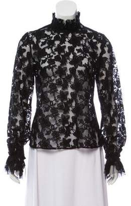 Alexis Embroidered Long Sleeve Top