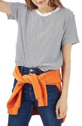 Petite Women's Topshop Nibbled Breton Stripe Tee $28 thestylecure.com