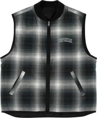 Supreme Reversible Shadow Plaid Vest - 'FW 17' - Black