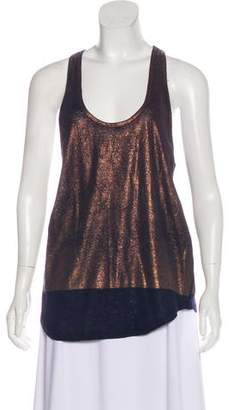 7 For All Mankind Metallic Sleeveless Top