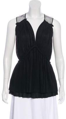 Barbara Bui Pleated Sleeveless Top